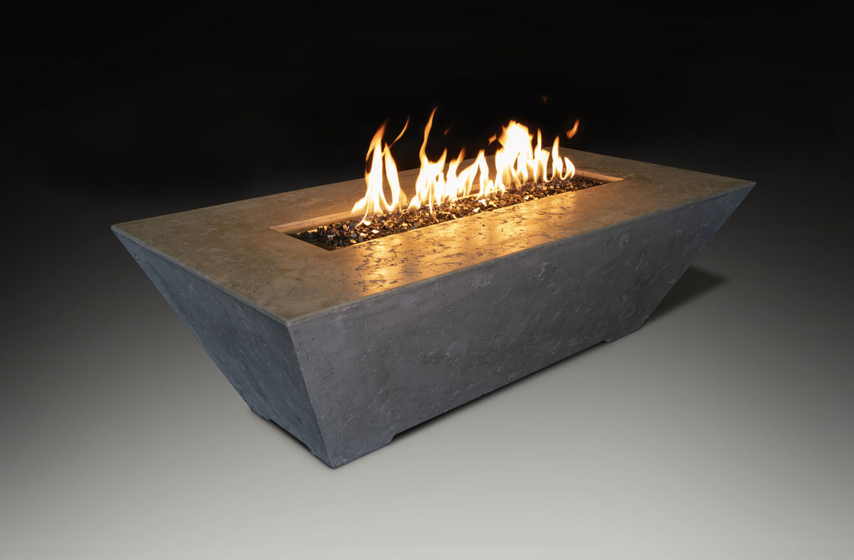 Fire Table Rectangle Gray